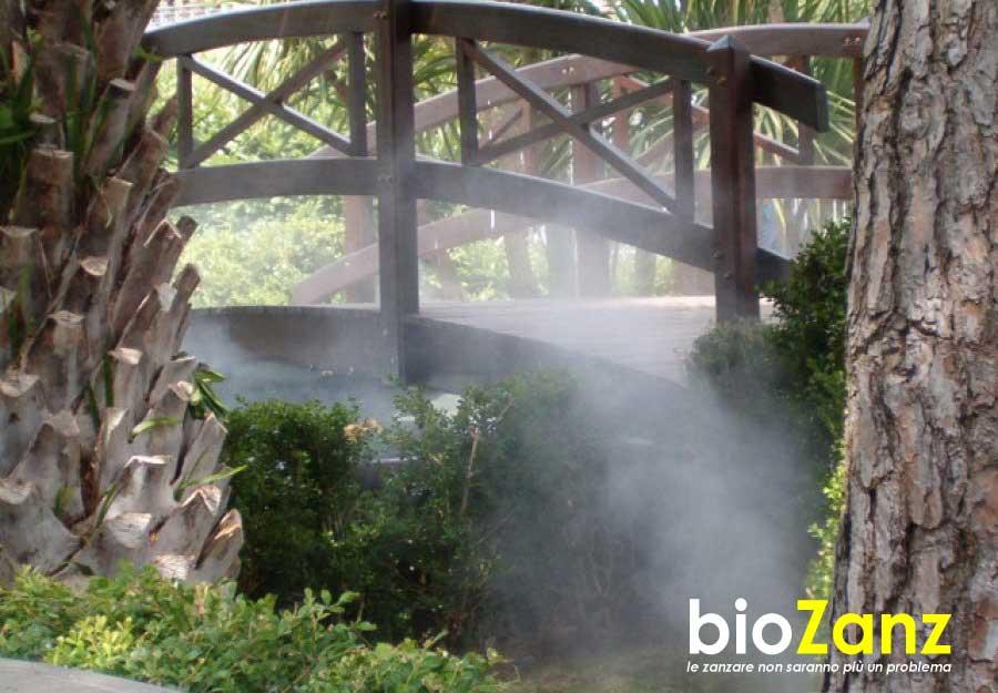Impianto disinfestazione zanzare parchi e giardini