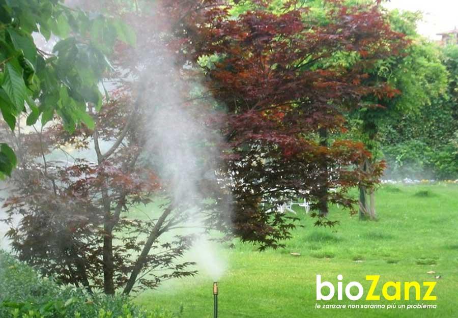 Impianti per parchi e giardini antizanzare