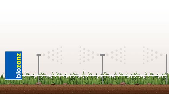 Barriera in giardino con impianto antizanzare biozanz