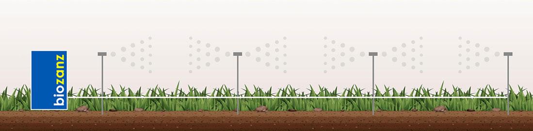 Impianto antizanzare automatizzato repellente per il giardino