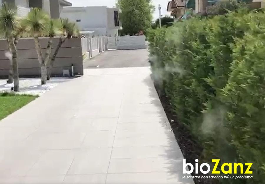 Sistema antizanzare per esterni biozanz