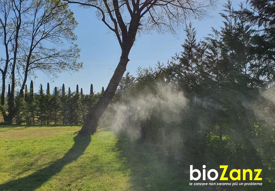 Impianto antizanzare da giardino biozanz