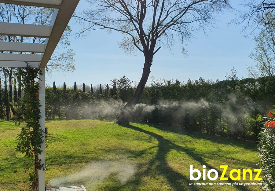 Impianto antizanzare barriera naturale ed efficace