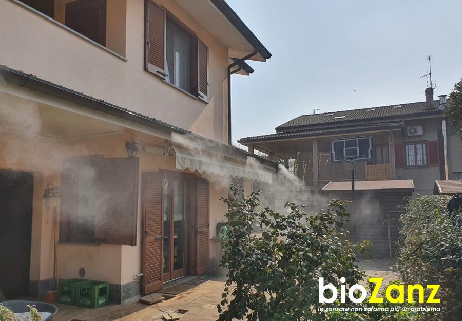 Impianto antizanzare biozanz per giardino ed esterni