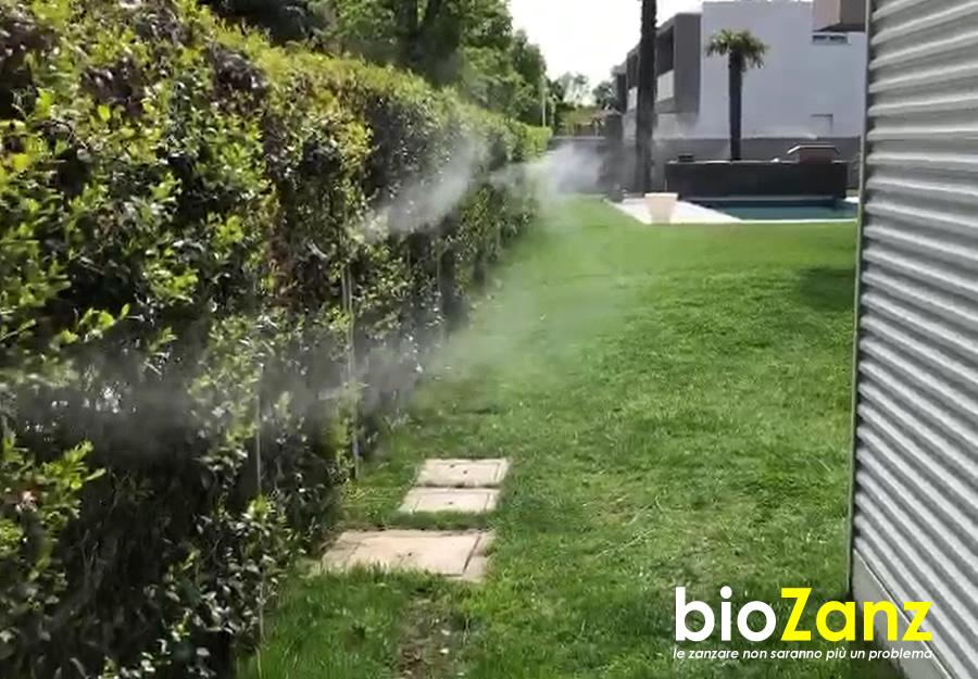 Impianto antizanzare biologico per giardino programmabile
