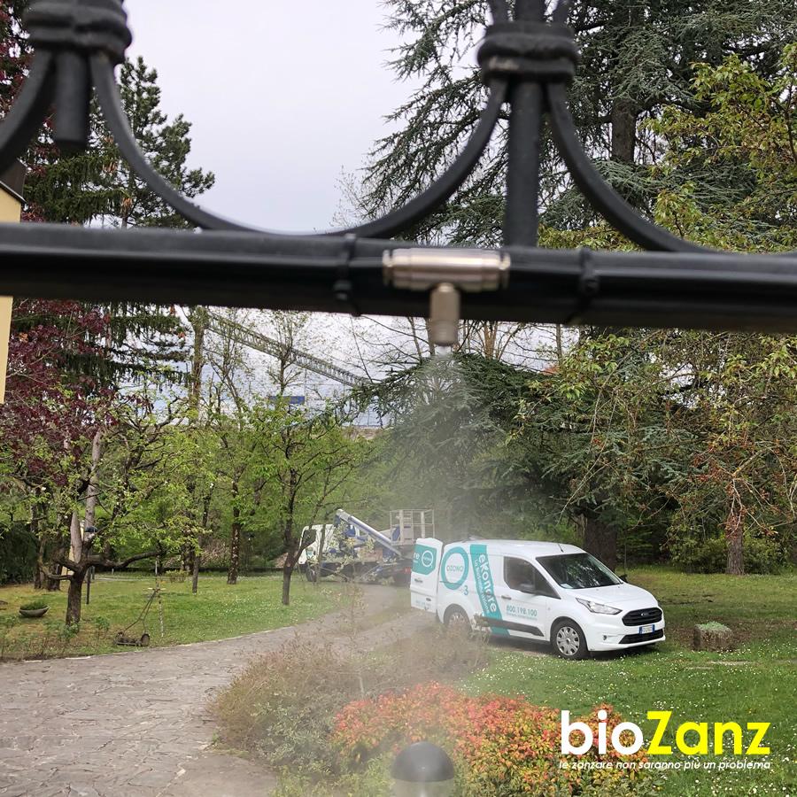 Installazione impianto antizanzare da giardino